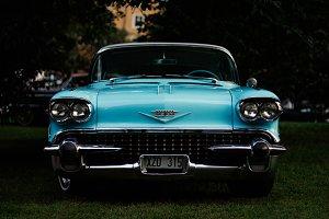 Classic Blue Car