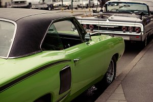 Classic Lime Green Car