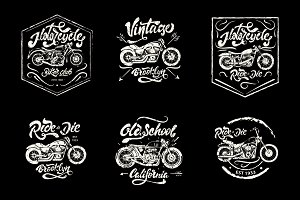 Vintage Hand-drawn Motorcycles logos