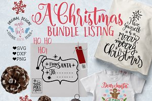 Christmas Bundle Cut Files