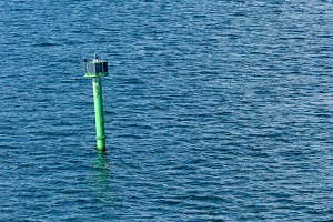 Navigational Aid or ATON outside Gdansk Poland