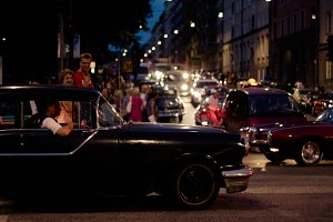 Midnight with a Classic Car