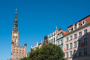 Old Main Town Hall in Gdansk, Poland