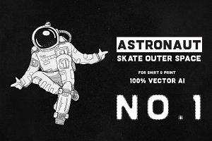 Astronaut Skate Outer Space 01