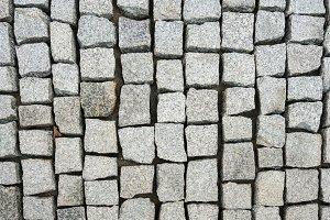 New construction of granite cobblestone path