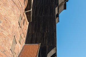 Gdansk Treadwheel crane in old town Poland