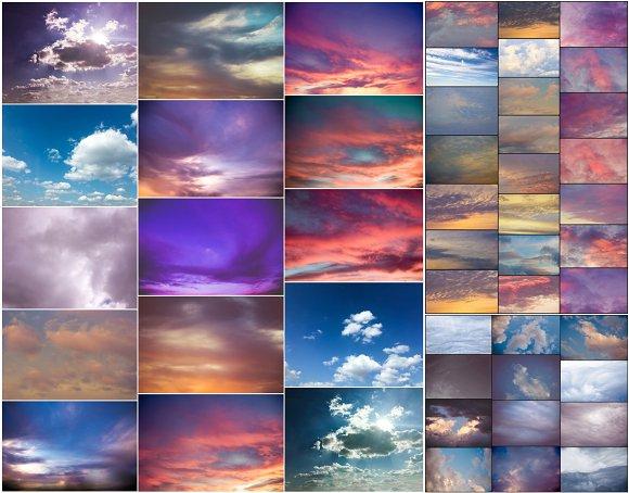 PhotoShop Sky Cloud Overlays