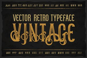 Vintage otf and vector font