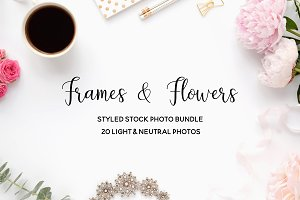 Frames & flowers - photo bundle -60%