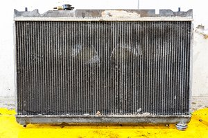 Leaky car radiator