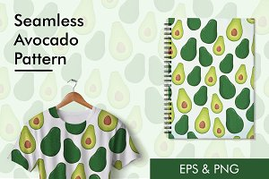 Seamless Avocado Pattern