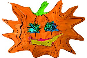 A squashed pumpkin