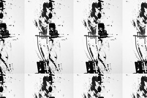 Black White Abstract Ink