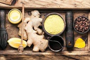 Ginger root for tea