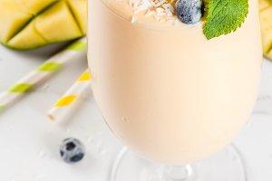Tropical mango smoothie