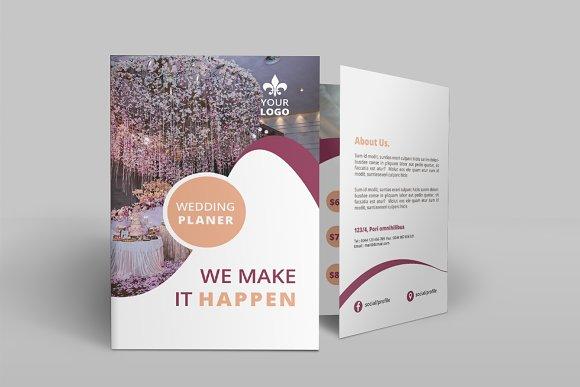 Wedding Services Bi-Fold Brochure ~ Brochure Templates ~ Creative Market
