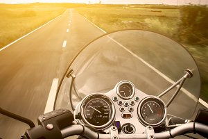 Motorcycle rider view
