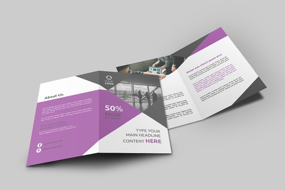 business bi fold brochure brochure templates creative market