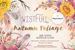 Floral Clipart Set - Wistful Autumn