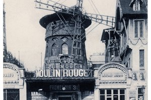 Moulin Rouge, Paris, 1909