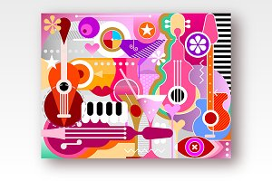 Cocktails and Music vector artwork