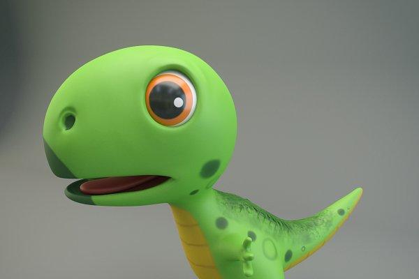 3D Animal Models: Genius World - Cartoon Dinosaur