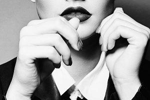 The vamp girl.