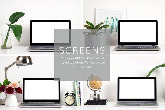 Screen Website Mockups
