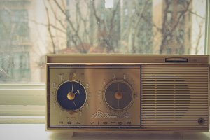 Vintage Radio in the Window
