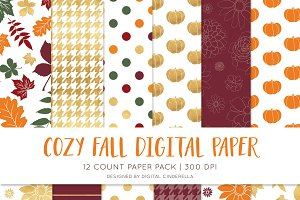 Glam Fall Digital Paper