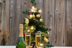 Golden Champagne for the holidays