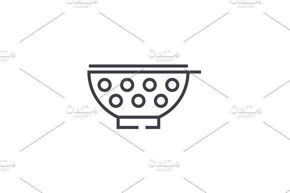 Stainer Vector Line Icon Sign Illustration On Background Editable Strokes