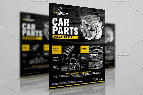 Car Parts and Accessories Flyer ~ Flyer Templates ~ Creative Market