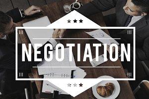 businessmen working on negotiation