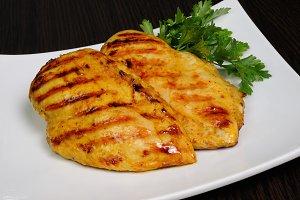 Chicken schnitzel, grilled