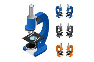 Microscope Set Isometric View