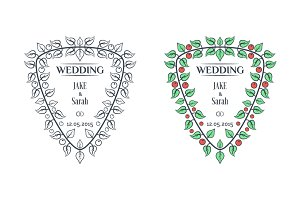 Vector wedding labels.