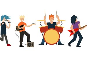 Cartoon Rock Band