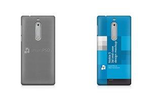 Nokia 5 3d IMD Mobile Case Mockup