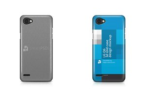 LG Q6 3d IMD Mobile Case Mockup 2017