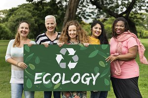 Group of diverse women ecology