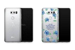 LG V30 UV TPU Clear Mobile Case