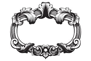Ornate Vintage Frame. Vector.