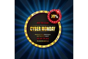 Cyber Monday Sale sign template
