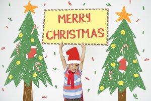 A cheerful boy