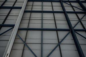 Hangar at airlines maintenance facility