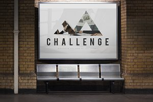 Triangle shaped with challenge word