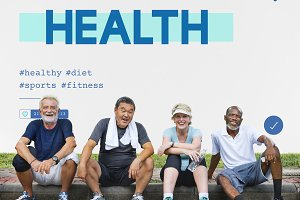 Group of diverse senior healthcare