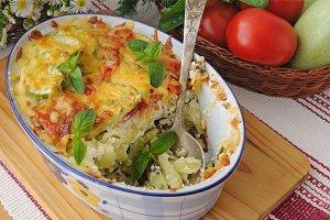 casserole of pasta