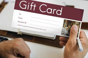 Gift voucher coupon card